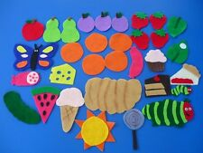 Very Hungry Caterpillar Flannel Board Story Felt 32 pieces