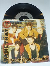 TAKE THAT - It Only Takes A Minute - Deleted 1992 UK 7""