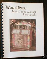 Wurlitzer Model 1500/1550 Jukebox Manual