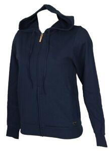 EMPORIO ARMANI Maglia giacca donna felpa con zip e cappuccio manica lunga tempo