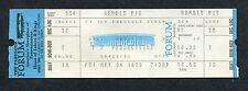 Original 1973 Humble Pie Unused Full Concert Ticket LA Forum 30 Days In The Hole