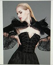Victorian Inspired Gothic Feather Shrug/Bolero Cape Black Devil's Fashion
