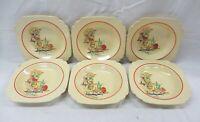 Homer Laughlin Century Riviera Mexicana Vintage 8'' Bowls Set of 6 Distress (AL)