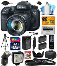 Canon EOS 7D Mark II 2 DSLR Camera with 18-135mm Lens (32GB Exclusive Bundle)