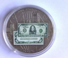 GROVER CLEVELAND $1000 BANKNOTE SERIES 1934 UNC PROOF COIN AMERICAN MINT W/COA