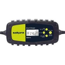 Sakura Smart Intelligent Battery Charger 6v 12v Lithium, AGM & Lead Acid 230v