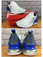NIKE UK 5.5 EU 38.5 AIR 270 WHITE BLUE GREY TRAINERS CHILDRENS LADIES RRP £90 LD