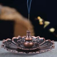 9 Holes Sticks&Cone lotus flower Shape Incense Burner Holder Statue Censer Plate