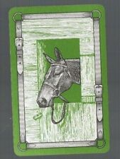 Playing Swap Cards  1  VINT  HORSE  AT  STABLE  DOOR  LO0KING  FOR FOOD    # 750