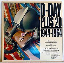 D-Day Plus 20, Rare Limited Edition Columbia Vinyl LP, XTV 88814, XTV 88815