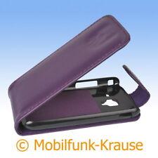 Flip Case Etui Handytasche Tasche Hülle f. Samsung Galaxy Ace 2 (Violett)