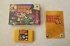 Donkey Kong 64 (Nintendo 64, 1999) with Box and Manual N64