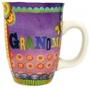GRANDMA Coffee Mug Cup Carson Homes 14 oz Colorful Ceramic