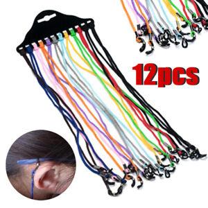 12X Colorful Children Elastic Glasses Strap Kids Eyeglass Rope Cord Chain Holder