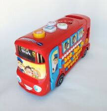 VTech Playtime Red bus plastic educational toy  musical talks sounds 28 cm/11''