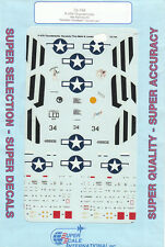 1/72 SuperScale Decals P-47N Thunderbolt 19th FS 318th FG Ie Shima 72-744
