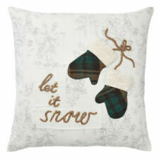 """Pottery Barn Let it Snow Winter/Christmas Pillow Cover 20"""" Square NWT"""
