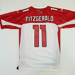 New Reebok Jersey NFL Equipment Larry Fitzgerald #11 Authentic Sz L +2