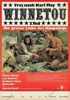"DDR Progress Filmplakat A3 Winnetou 2. Teil ""Pierre Brice, Lex Barker"" Karl May"