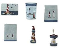 6 Piece Nautical Ocean Lighthouse 6pc Bathroom Accessory Set Bath