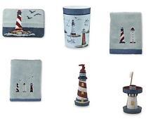 6 Piece Nautical Ocean Lighthouse 6pc Bathroom Accessory Set Bath