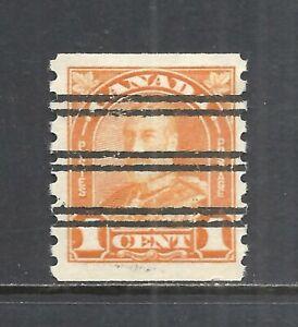 CANADA SCOTT 178 MH VF - 1930 1c ORANGE KING GEORGE V COIL ISSUE   CV $10.00