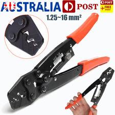 1.25-16mm² Wire Crimper Cable Crimping Plier Terminal Anderson Plug Crimp Kit AU