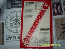 RARE FOOTBALL PROGRAMME ANFIELD 1976 LIVERPOOL V LEICESTER LEAGUE DIVISION 1
