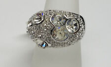 > Womens Size 8 - >New< Sparkling Crystal Stone Silver Ring Fashion