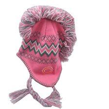 Chicago Bears NFL Kids Youth Girls (7-16) OSFM Pink Winter Tassel Hat Cap