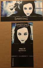 Evanescence Rare 2003 Double Sided Promo Poster Flat of Fallen Cd 24x12 Mint Usa