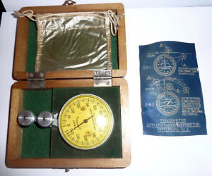 TENSOMETER Gauge In Wood Box SIPP-EASTWOOD Corp. Patterson NJ 1950s