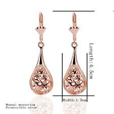 Rose Gold Plated 18k Crystal Earring Long Pendant Stud Eardrop Dangle Jewelry