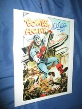 CAPTAIN AMERICA Signed Art Print by Allen Bellman ~Avengers/Movie/Marvel Comics