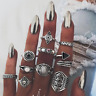 Fashion 10pcs/set Vintage Women Knuckle Ring Finger Rings Midi Boho Jewelry