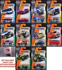 2017 Matchbox Wave F - All 10 Vehicles/LAND ROVER/CHEVY VAN with MOTORBIKE/MOC