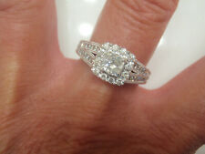 Neil Lane 1.20  Ctw Cushion Diamond Engagement Ring 1/2 Ct Cushion 14K Wg