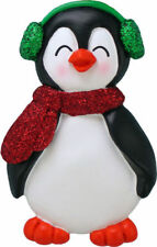 Penguin Boy with Expression Little Brother Personalized Christmas Tree Ornament