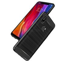 For Xiaomi Mi 8 Case Carbon Fibre Gel Cover Brushed Shockproof Hybrid
