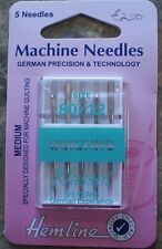 Klasse Machine Needles - Quilting - pack of 5.  Size 80 / 12