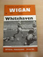 01/12/1967 Rugby League Programme: Wigan v Whitehaven  . Thanks for taking the t