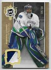 07/08 THE CUP BASE GOLD GAME USED PATCH #6 Roberto Luongo #4/10 2CLR