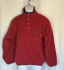 Patagonia Fleece SNAP T Pullover Anorak MEDIUM One Pocket on Chest Unisex