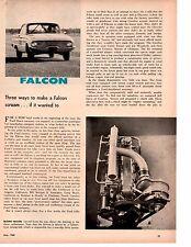 1960 FORD FALCON ~ ORIGINAL 2-PAGE MODIFICATIONS ARTICLE / AD