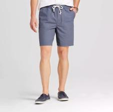 NWT Mens Merona Drawstring Elastic Waist Jogger Shorts Tom Cat Gray Size S