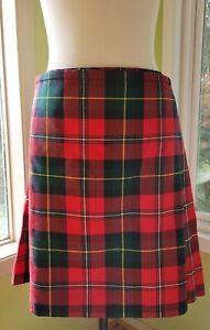 """J Higgins, Ltd.. Modern Boyd Tartan Mens Kilt  Pure Wool 38"""" BONUS Kilt Pin EUC"""