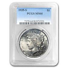 1935-S Peace Dollar MS-64 PCGS (Toned)