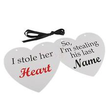 Funny Wedding Heart Photo Props with Sweet Sayings Decorative Hanging Sign