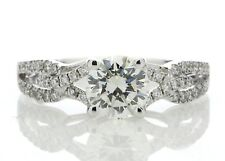 anillo de compromiso diamante 1,32ct J VS2 18 ct Blanco Oro Certificado AGI