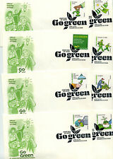 4524a-p Go Green  Artcraft 16  single FDCs, pictorial cancels